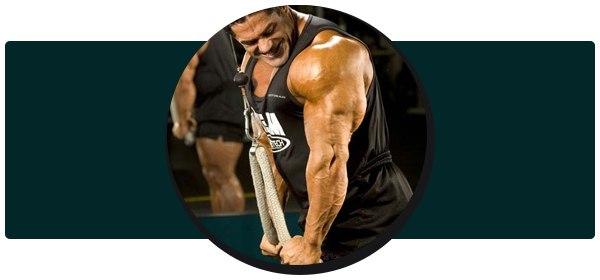 Отличное упражнение для построения разрывающих рукава трицепсов