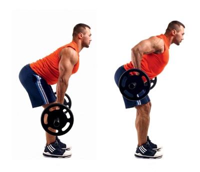 Обратите внимание на положение спины атлета
