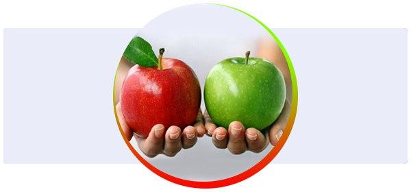 Сколько калорий в яблоках и блюдах из них?